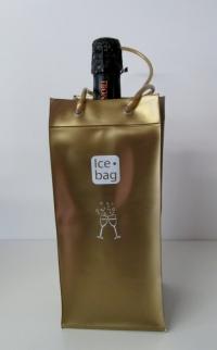 Ice Bag Mat Goud  11x11x 25,5  cm