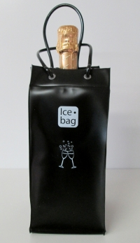 Ice bag Mat Zwart 11x11x25,5cm