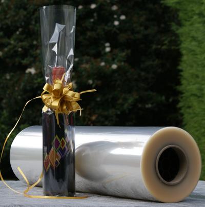 Folie  transparant op rol 60cm 30my x500mtr