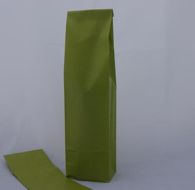 Blokbodemzak  papier groen 41x10x8 cm 1 fles (p/250)