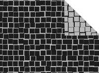 Cadeaupapier Blok zwart/zilver dubbel 50cmx200mtr