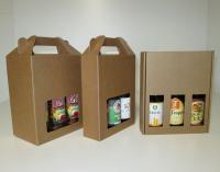 Bierkoffer karton 3 fles  18,2x6,1x23cm (p/25)