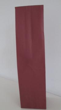 Blokbodemzak papier Bordeaux  41x10x8  1 fles (p/250)