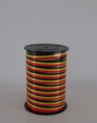 Krullint vlag  zwart,geel,rood10 mm x 250 yard (België)