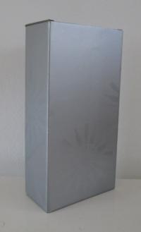 Kokerdoos Rosace zilver voor 2 flessen