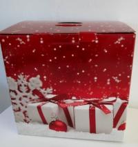 Kerstpakket doos Linea Rood 38x27x36H (P/10)