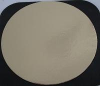 Kartonnen rondel goud/zilver Dia 16cm    (250st)