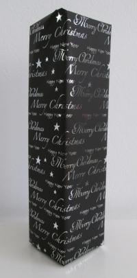 Cadeaupapier kerst/nieuwjaar zwart metalic 50cmx100mtr.
