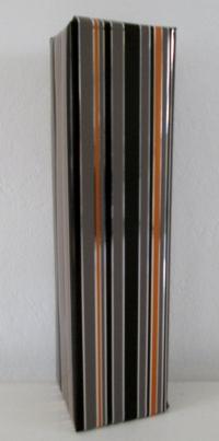 Cadeaupapier stripe metalic 50cmx100mtr.