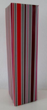 Cadeaupapier Stripe rood,grijs,paars 50cm x100mtr.