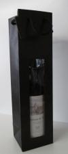 Tas naturel Zwart Mat +  venster 1 fles