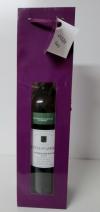 Tas paars glans met venster  voor 1 fles