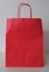 papieren draagtas draaihandvat 23+12x30cm Rood