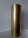 Rol bruin kraft gestreept metaal goud 50 cmx200mtr.