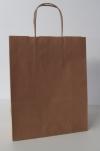 papieren draagtas draaihandvat 18+8x22cm Naturel