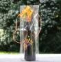 Blokbodemzak transparant 1 fles 9+8x37cm (p/500)