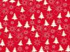 Cadeaupapier Rood kerstboom wit 50cmx200mtr