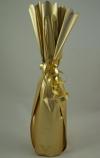 Flessenzak metal folie goud mat