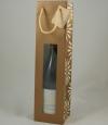 Flessentas Rosace brons/ivoor met venster 1 fles