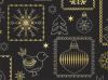 Cadeaupapier Kerst Zwart/Goud/Zilver 50cm/100mtr