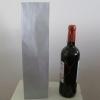 Blokbodemzak papier zilver 41x10x8cm 1 fles (p/250)