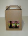 Bierkoffer karton 6 fles  18,2x12,1x23cm (p/25)