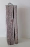 Wijnflesdoos steigerhout 1 fles 9x9x33cm
