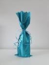Flessenzak metal Turquoise mat
