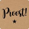 Rol etiket Proost 35mm  vierkant (rol/500) No100
