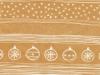 cadeaupapier naturel kerstbal 50cm x100meter