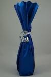 Flessenzak metal folie blauw mat
