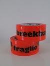Dozentape Oranje BREEKBAAR/FRAGILE