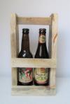 Upcycled houten Bierrek voor 2 bier (33cl)