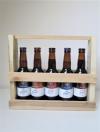 Upcycled houten Bierrek voor 5 bier (33cl)
