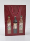 Tas Bottle Bordeaux 3 fles +vensters 27x39x8,7cm (p/10)