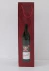 Tas Bottle Bordeaux 1fles+venster 9,8x39x9cm. (p/20)