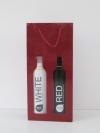 Tas Bottle Bordeaux 2 fles +vensters 18x39x8,7cm (p/10 st.)