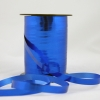 Krullint metalic blauw 10mmx250meter.