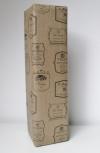 Cadeaupapier Wijnlabel Bruin Kraft  50cmx100mtr.
