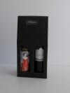 Draagdoos Zwart 2 flessen 18x9x38cm (p/20)