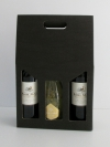 Draagdoos Zwart 3 flessen 27x9x38cm (p/20)