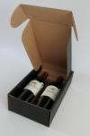 Wijndoos Zwart liggend 2 fles 20x33,5x9cm (p/10)