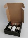 Wijndoos Zwart liggend 3 fles 29,5x33,5x9cm (p/10)