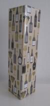 Cadeaupapier flessen creme 50cmx100mtr.