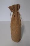 Luxe Wijnfleszak Kurk met koord 13,5x36,5cm (p/6)