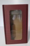 Vensterdoos Bordeaux rib 2 flessen 20x33,5x9cm (p/10)