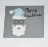 Rol stickers Merry Christmas (kerstman) 500stuks.