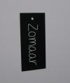 Wenskaartje 4,5x10cm zwart /wit Zomaar(25st.)