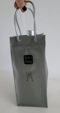 Ice bag Mat Zilver 11x11x25,5 cm
